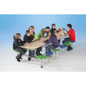 """Spaceflex 2.0®, rechteckige Vollkernplatte """"PowerSurf"""", 12 Sitze, für Kinder ab 11 Jahre"""