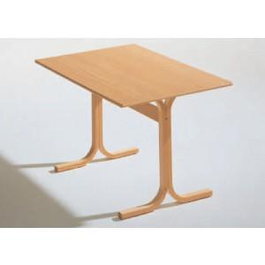 Rechtecktisch, Melaminplatte, Holzgestell