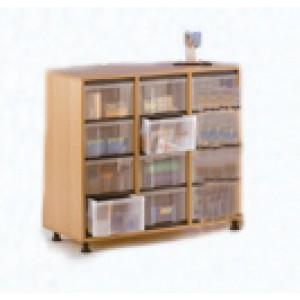 """Eigentumsschrank, 3-reihig, mit 4 x InBox """"L"""" übereinander"""