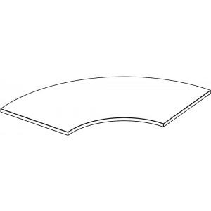 Tischplatte Viertelkreis, ohne Zarge