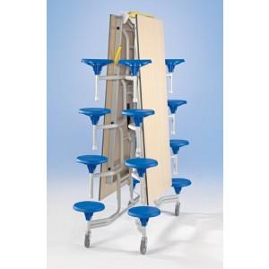 Spaceflex 2.0®, rechteckige Melaminplatte, 16 Sitze, für Kinder zwischen 5 und 7 Jahren