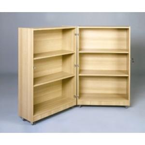 Klapp-Bibliothek, fahrbar
